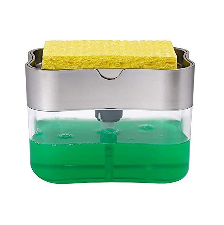 eayira dish soap dispenser for kitchen soap dispenser with sponge holder