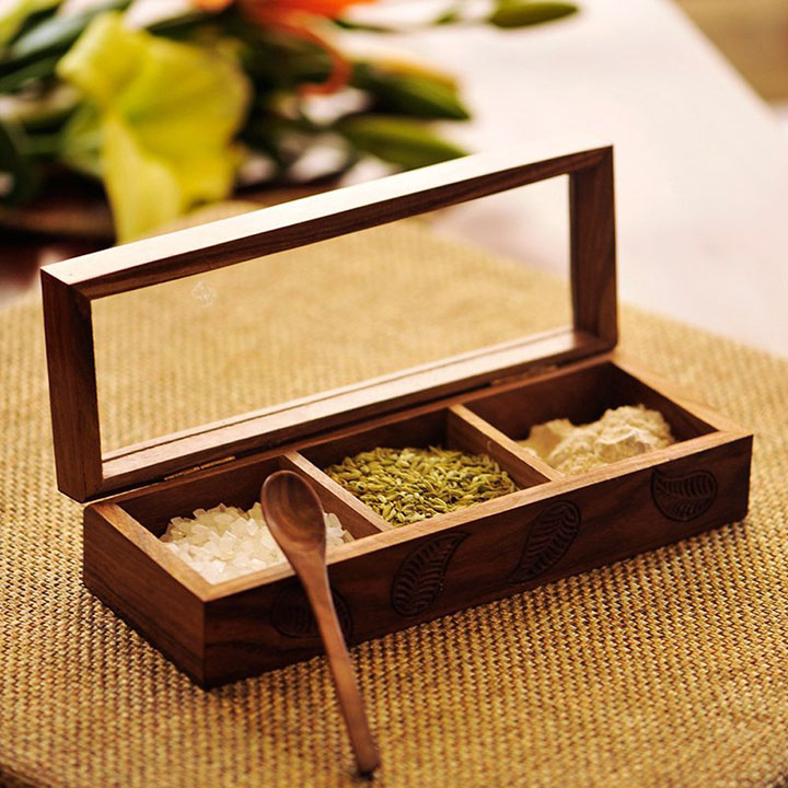 exclusivelane wooden spice box