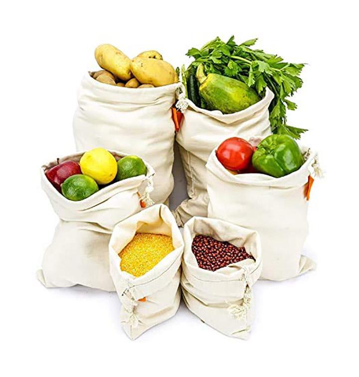 freshkitt cotton eco friendly multipurpose washable fridge storage bag