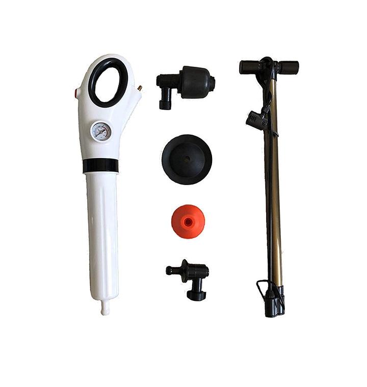 hiru creation multifunctional inflatable pipe plunger air pressure pump drain toilet sink cleaner