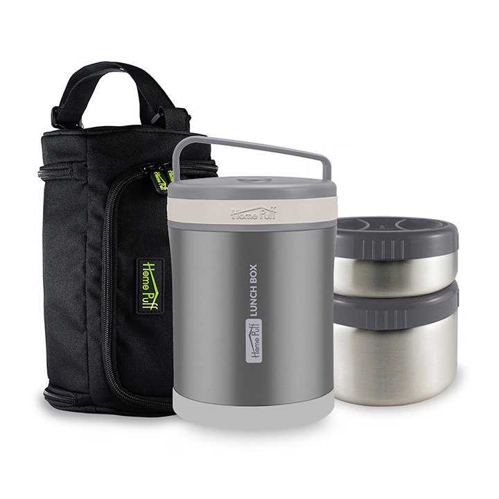home puff double wall vacuum insulated stainless steel lunch box