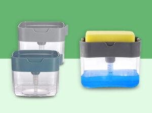 kitchen soap dispenser with sponge holder india