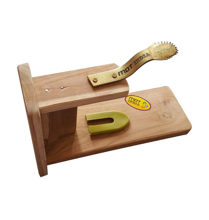 mdt india table top teak wooden coconut scraper