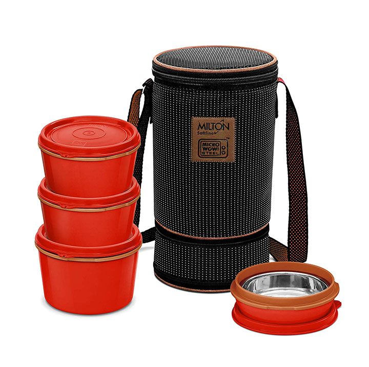 milton flexi insulated inner stainless steel lunch box set