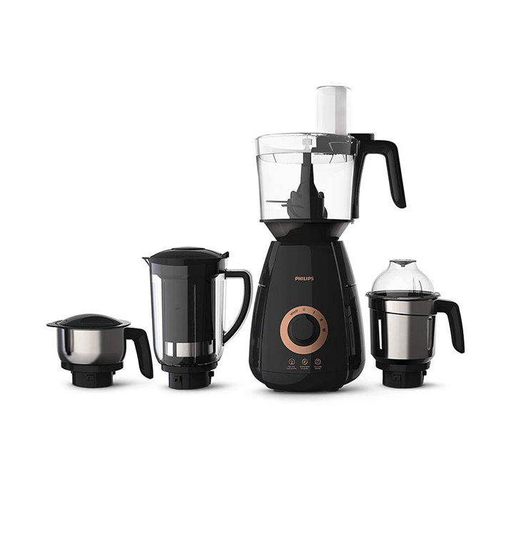 philips hl770700 mixer grinder 750w 4 jars (black)