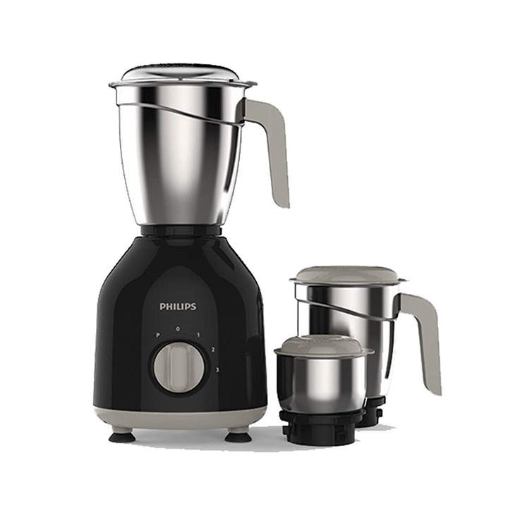 philips hl775600 mixer grinder 750w 3 jars (black)
