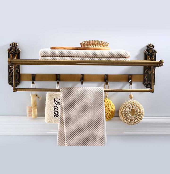 plantex folding towel rack for bathroom