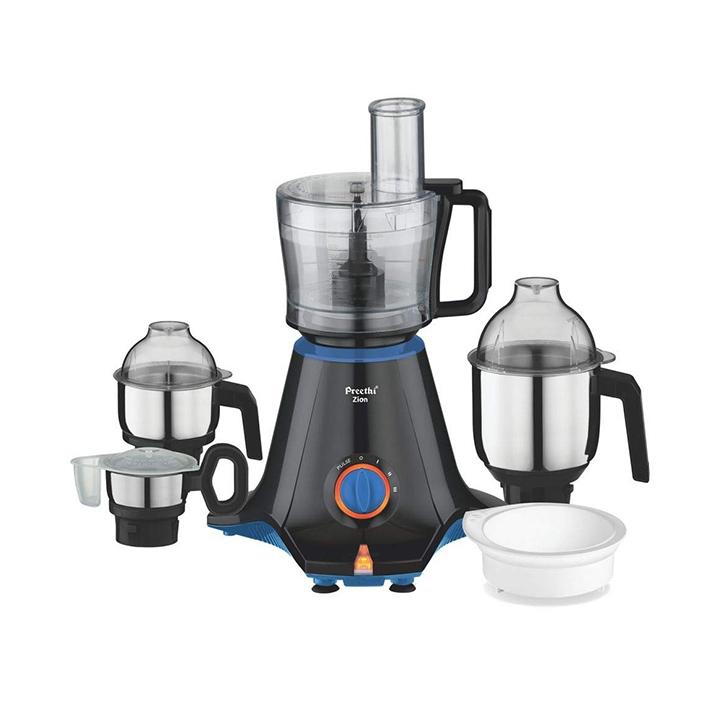 preethi zion mg-227 mixer grinder 750w 4 jars