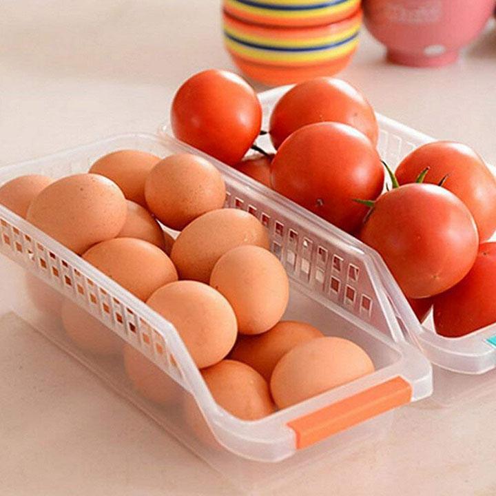 prismosis retail fridge storage basket shelf organizer rack