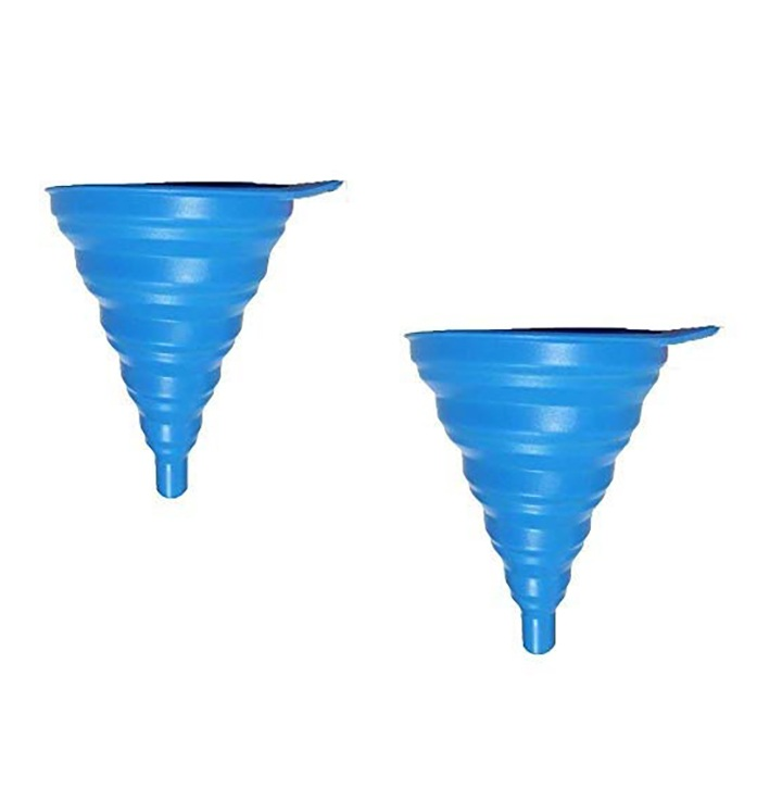 shuban silicone flexible and foldable funnel