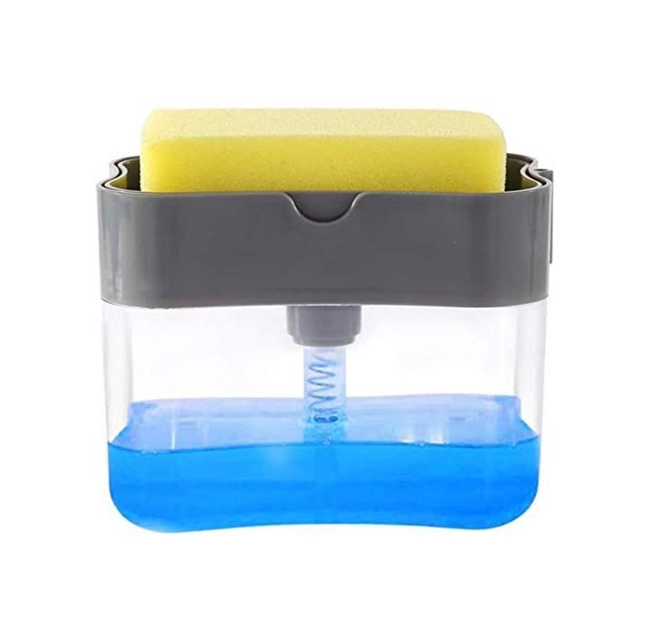 simxen soap pump dispenser and sponge holder