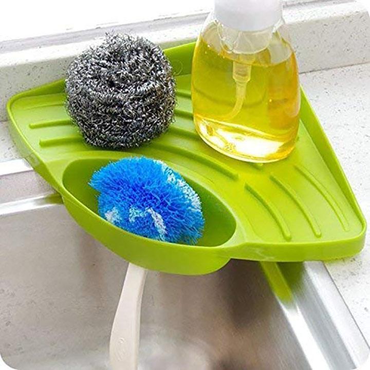 souxe corner sink wash basin storage organizer rack