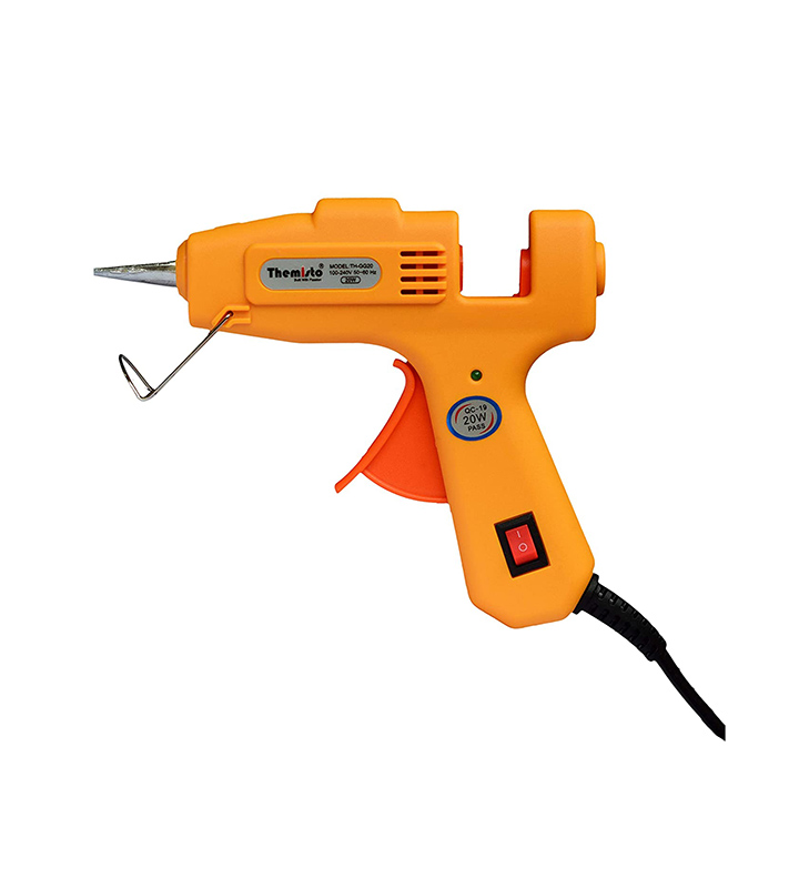 themisto 20 watt mini hot melt glue gun with 10 glue sticks for diy art and crafts
