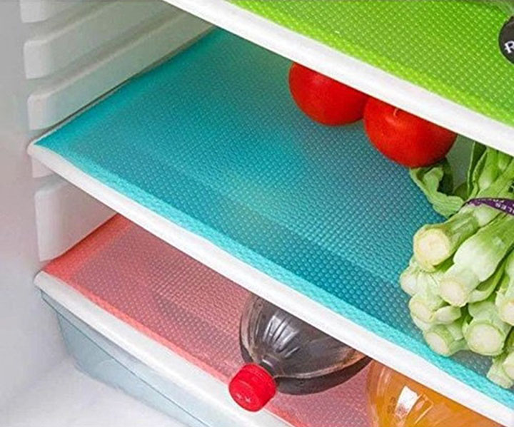 yellow weaves fridge mat