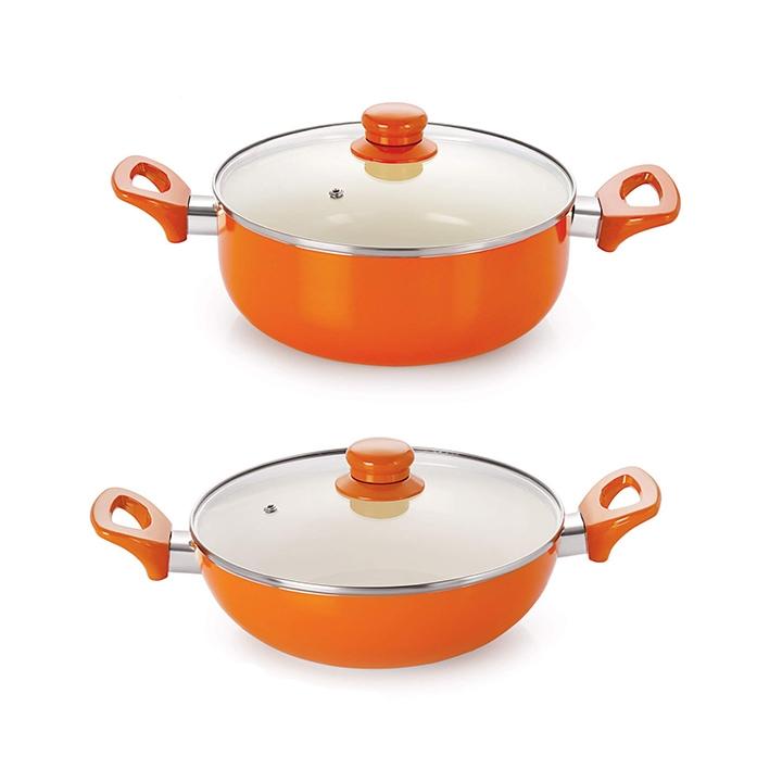 nirlon ceramic cookware set