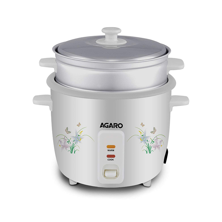 AGARO - 33307 Supreme 1-Litre Rice Cooker with Steam Pot