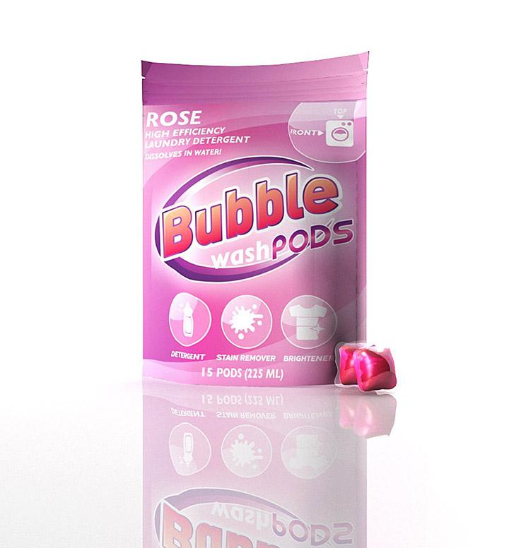 bubble washpods liquid laundry detergent soap