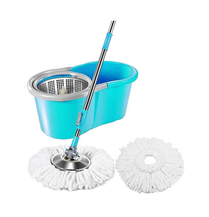 diva n diya zemic stainless steel easy clean microfiber spin bucket mop
