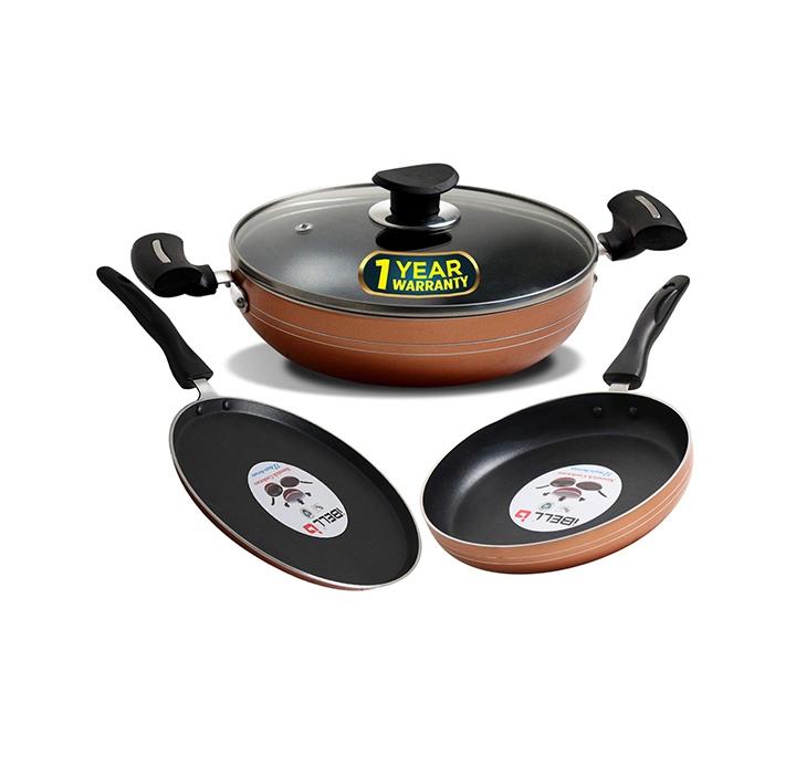 ibell fkt2325 copper cookware set combo, 4 piece