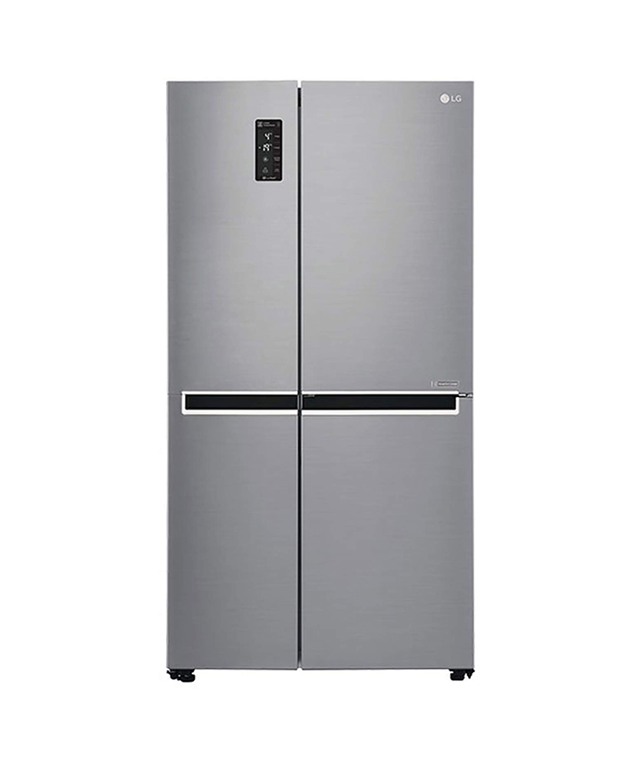 lg 687 l frost free side-by-side refrigerator