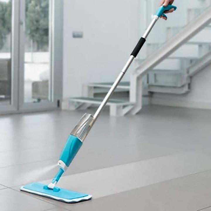 nubilous aluminium microfiber floor cleaning spray mop
