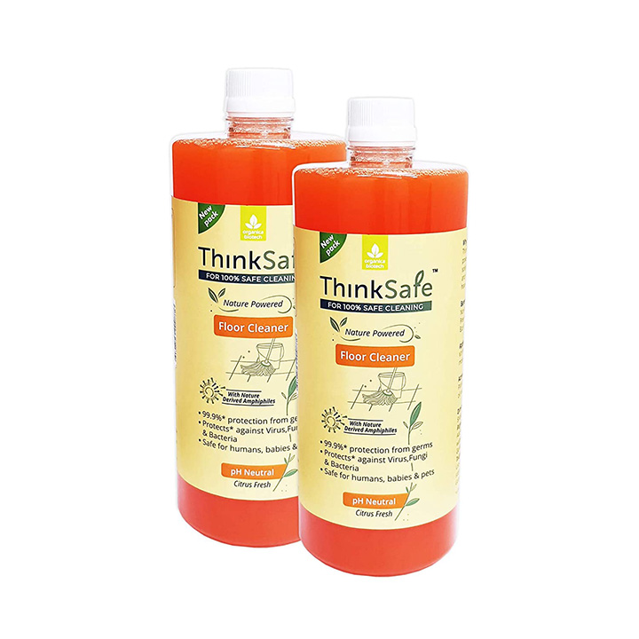 organica biotech thinksafe natural floor cleaner liquid