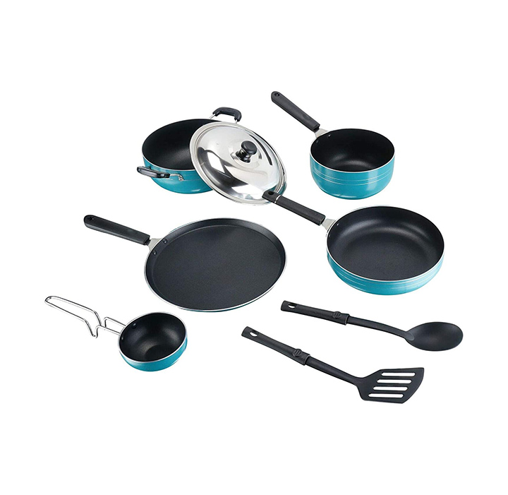 tosaa popular nonstick cookware 8 pcs gift set