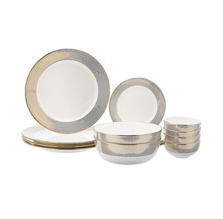amazon brand - solimo handmade ceramic dinnerware set