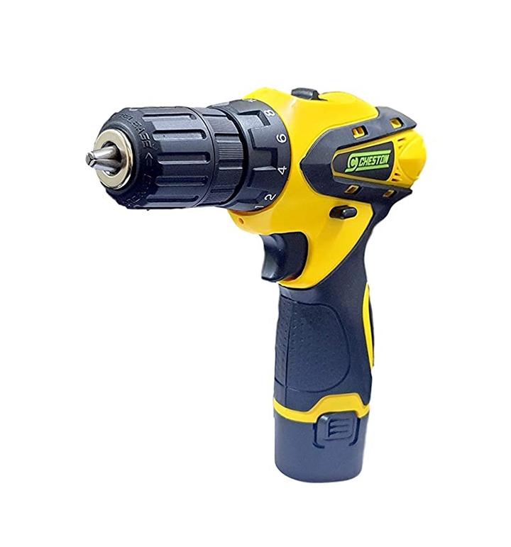 Cheston 10 mm Dual Speed Keyless Chuck 12V Cordless DrillScrewdriver