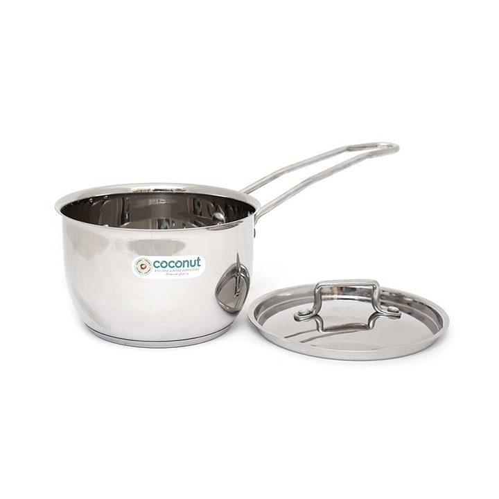 coconut stainless steel saucepan