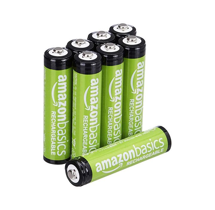 amazon basics 8-pack aaa rechargeable batteries