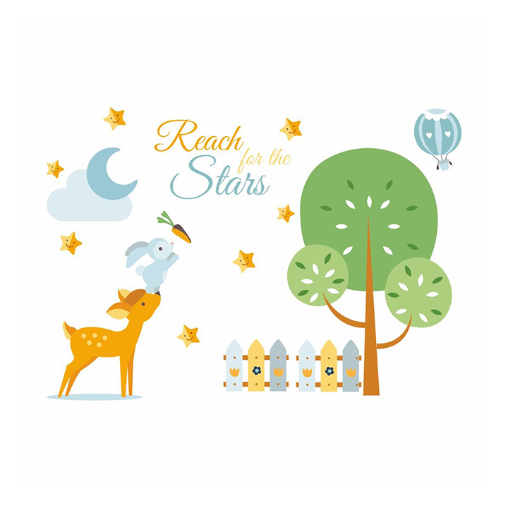 asian paints wall-ons reach for the stars wall sticker