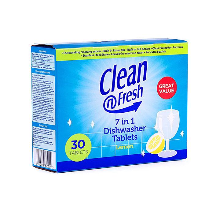 clean n fresh 7 in 1 dishwasher tablets