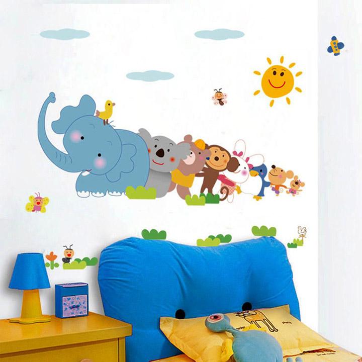 decals design 'jungle cartoon cute animals' wall sticker