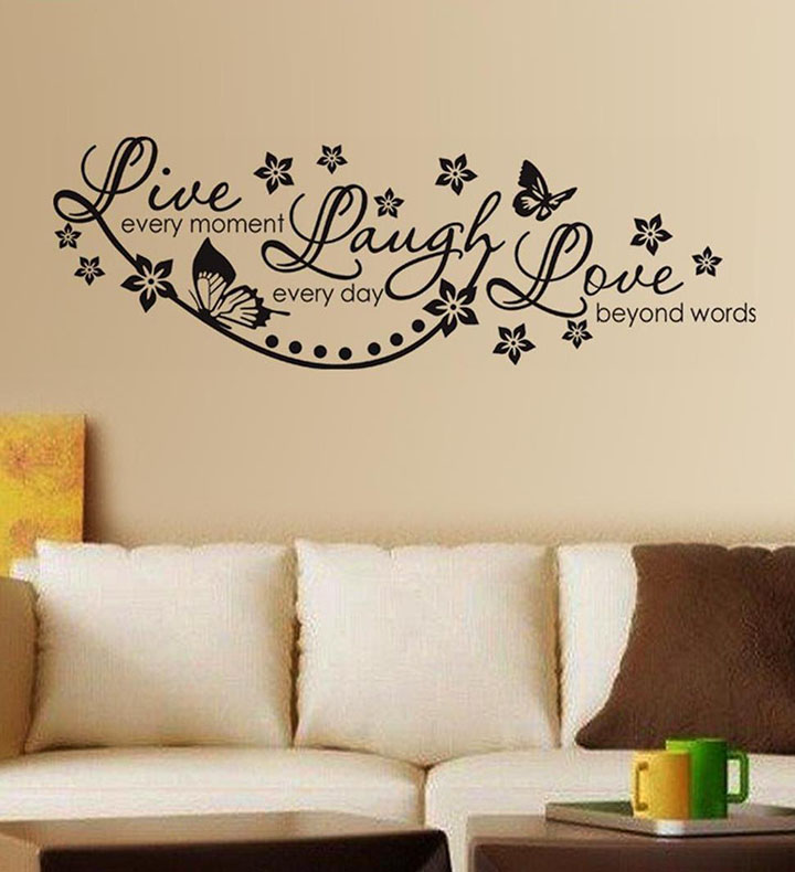 decals design 'live laugh and love family' wall sticker