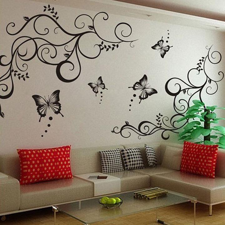 decals design 'lovely butterflies' wall sticker