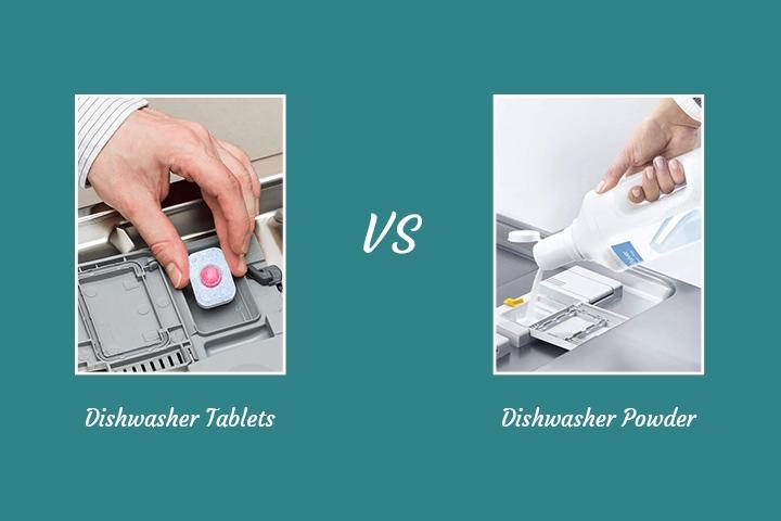 dishwasher tablets vs. dishwasher powder