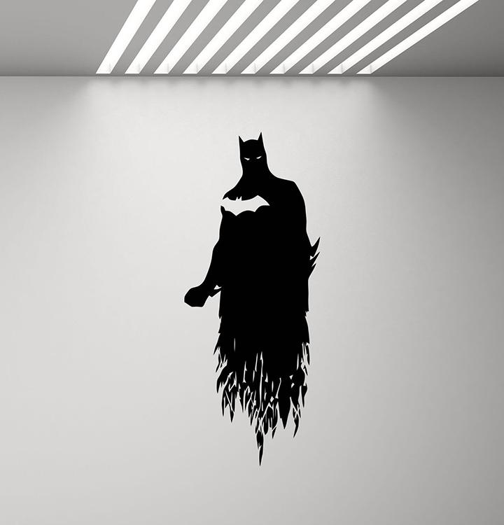 gadgets wrap batman poster wall decal superhero decor boy gift kids room mural vinyl sticker