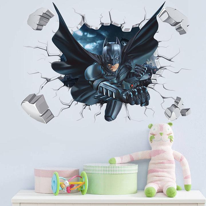gadgets wrap broken wall batman wall sticker