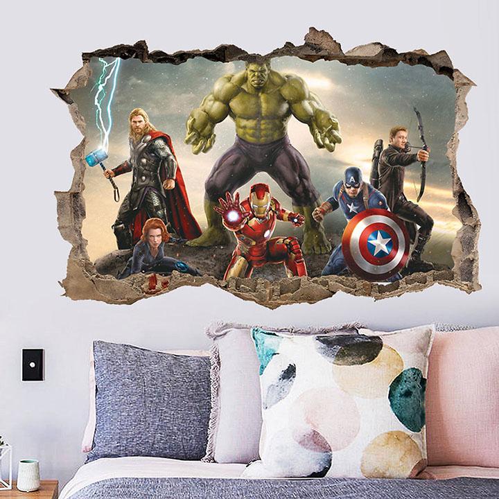 gadgets wrap cartoon movie avengers wall sticker