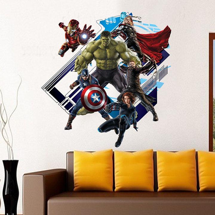 gadgets wrap cartoon movie captain the avenger home decal wall sticker