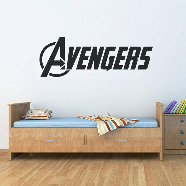 gadgets wrap the avengers logo vinyl wall word decal marvel comics wall stickers