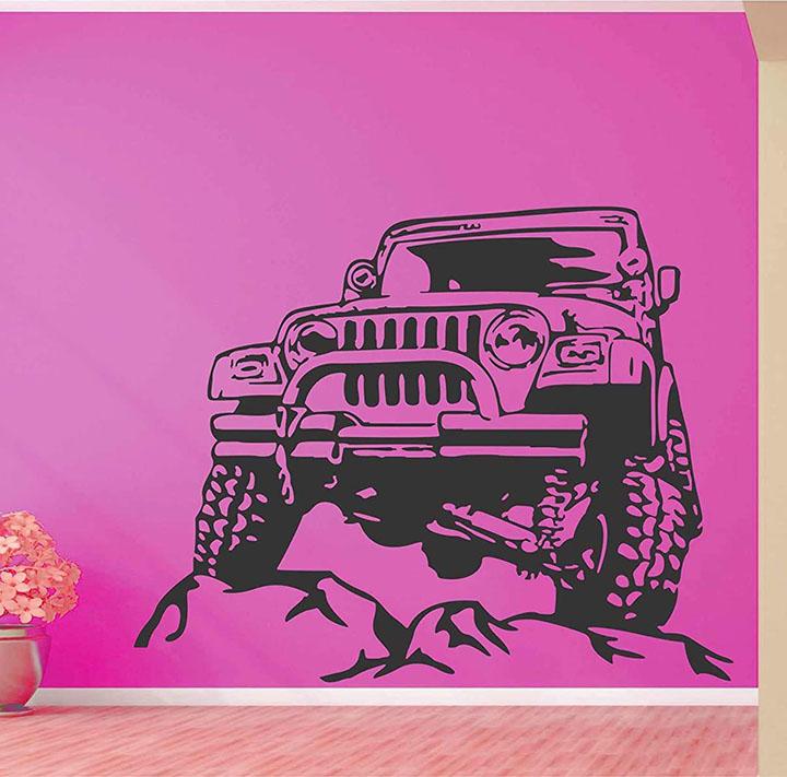 heaven decors vinyl mountain jeep wall sticker