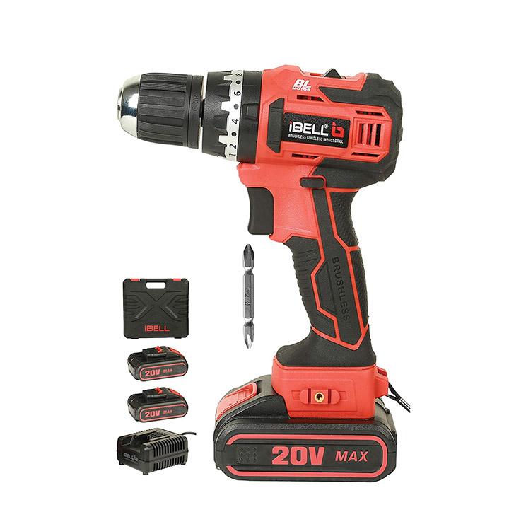 ibell bm18-60 20v brushless impact driver drill (cordless)