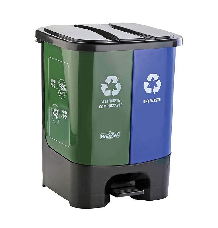 nayasa twin bin dry and wet waste dustbin