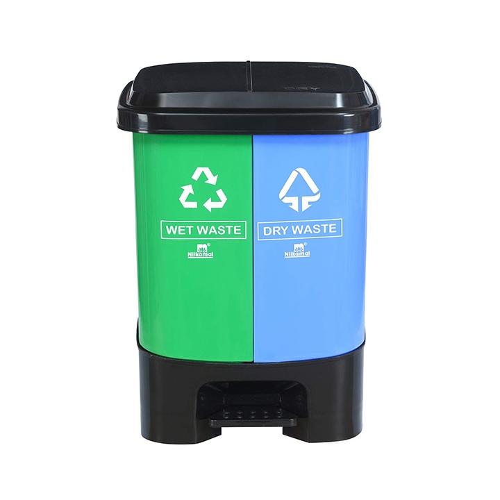 nilkamal 10 liter twin dustbin