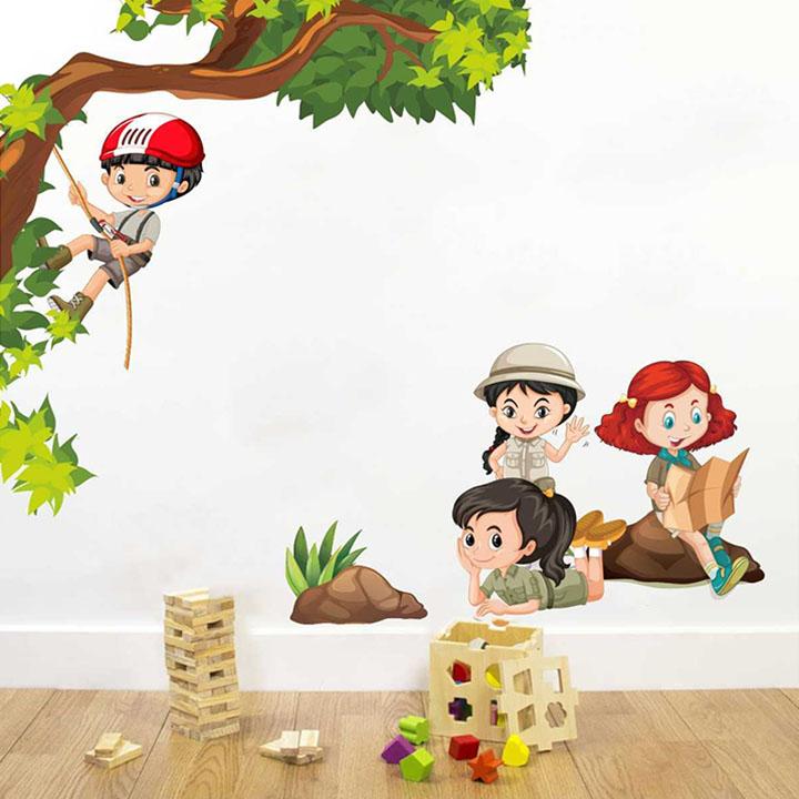 rawpockets kids activity' wall sticker