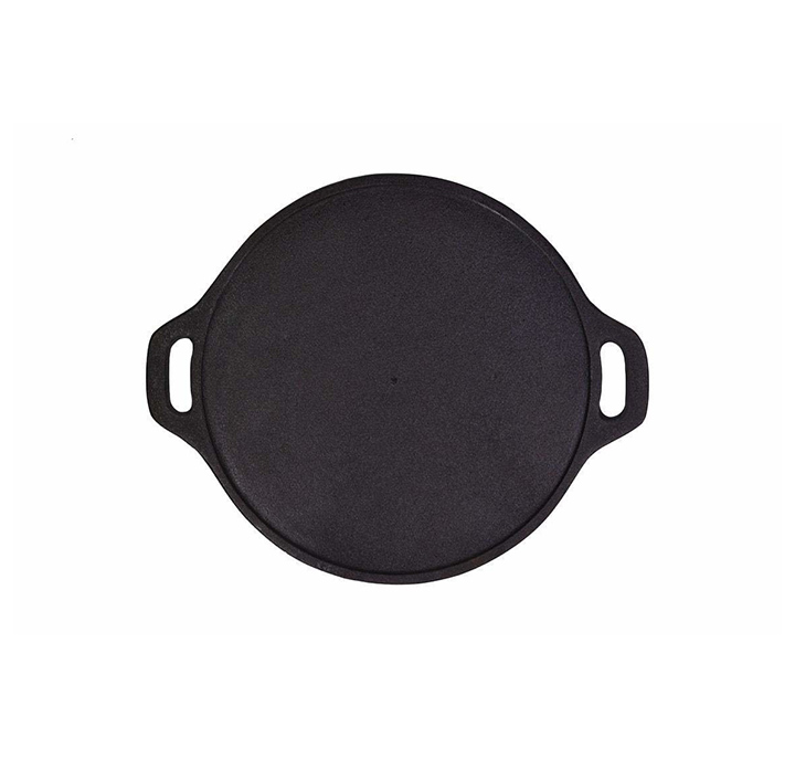 rock tawa dosa tawa 12 inch pre-seasoned cast iron skillet