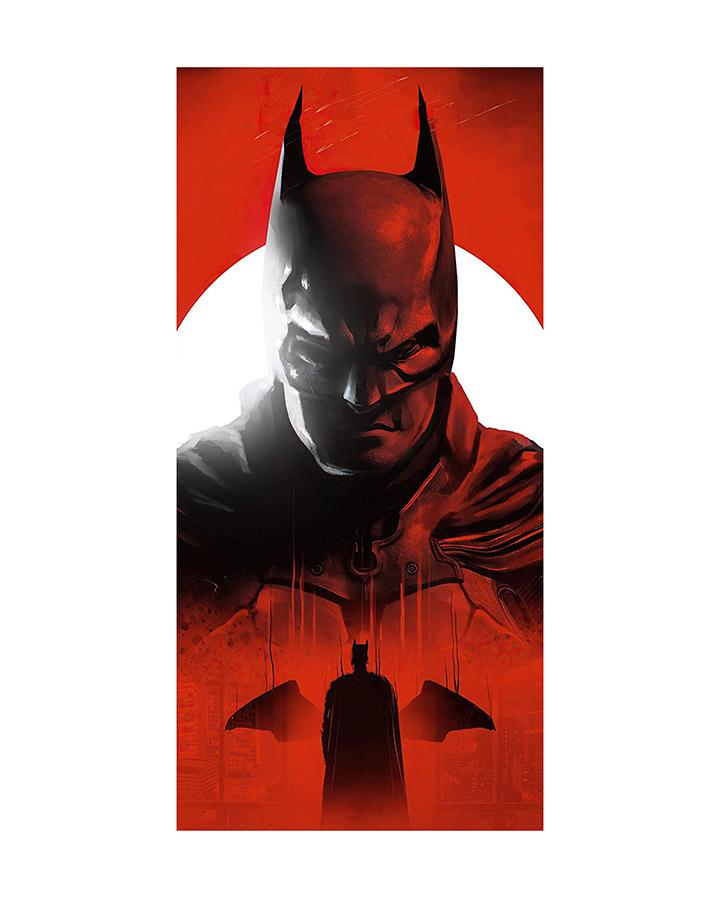 semi-circle batman superhero wall sticker