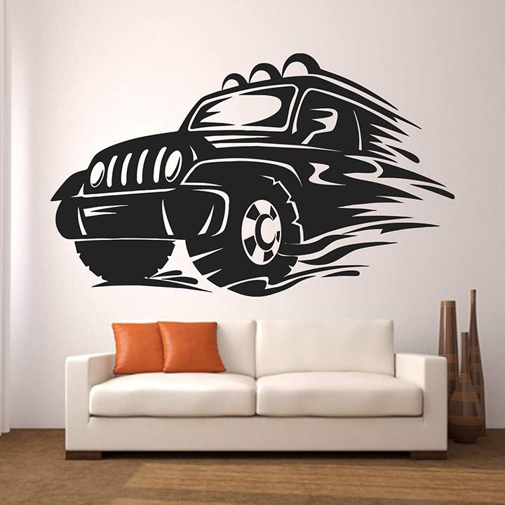 stickme sports jeep wall sticker